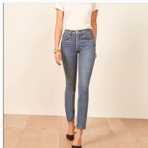 Reformation Melissa High & Skinny Jeans Baltic 24